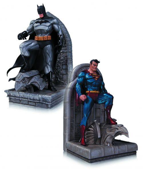 DC COMICS SUPERMAN & BATMAN BUCHSTÜTZEN