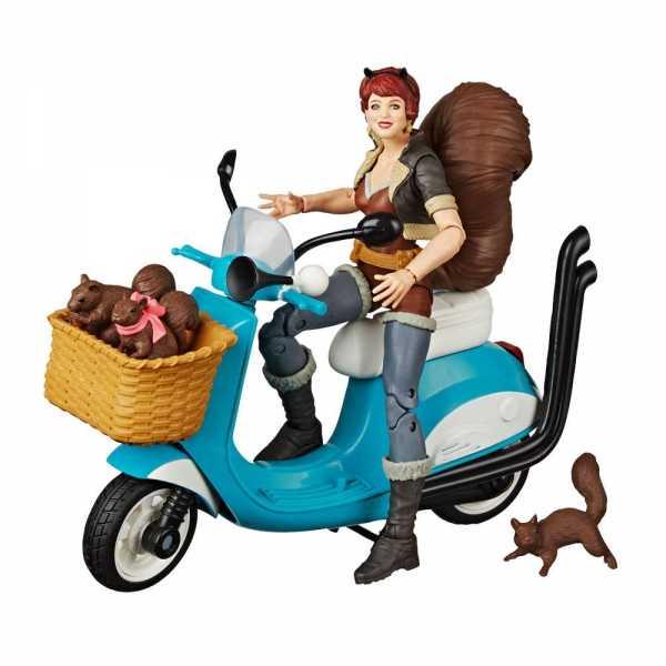 Marvel Legends Series Squirrel Girl mit Fahrzeug 15 cm Actionfigur