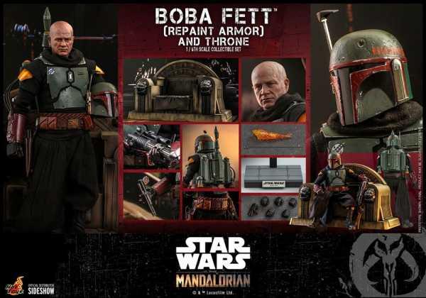 VORBESTELLUNG ! Star Wars The Mandalorian 1/6 Boba Fett (Repaint Armor) and Throne 30 cm Actionfigur