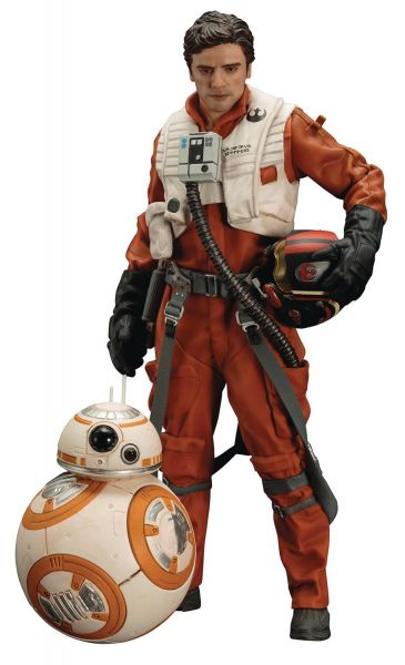 STAR WARS EPISODE 7 POE DAMERON & BB-8 ARTFX+ STATUE 2-PACK