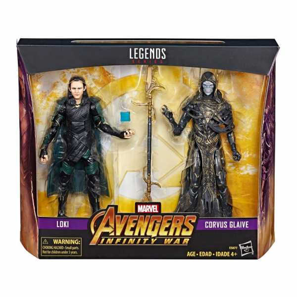 MARVEL LEGENDS LOKI & CORVUS GLAIVE ACTIONFIGUREN SET