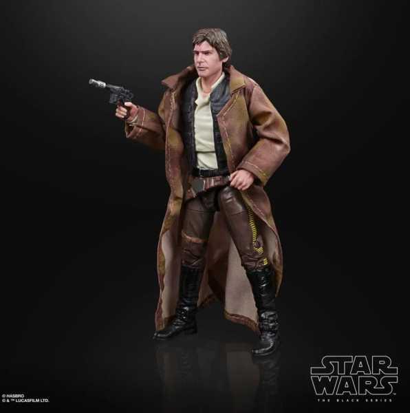 VORBESTELLUNG ! Star Wars The Black Series Han Solo (Endor Trenchcoat) 6 Inch Actionfigur
