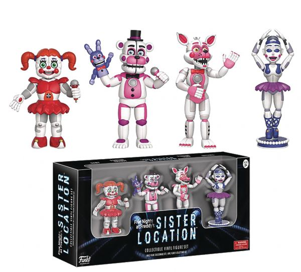 FIVE NIGHTS AT FREDDYS SISTER LOCATION FIGUREN 4-PACK SET 1
