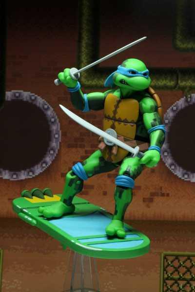 VORBESTELLUNG ! Teenage Mutant Ninja Turtles: Turtles in Time Actionfigur Serie 1 Leonardo 18 cm
