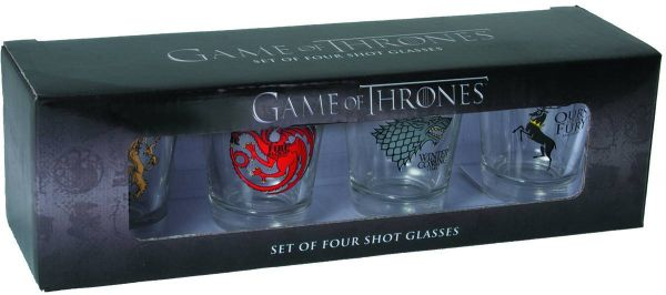 GAME OF THRONES FOUR SIGIL SCHNAPSGLÄSER SET
