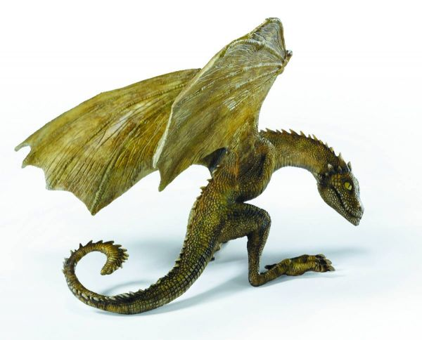 GAME OF THRONES RHAEGAL BABY DRAGON RESIN STATUE