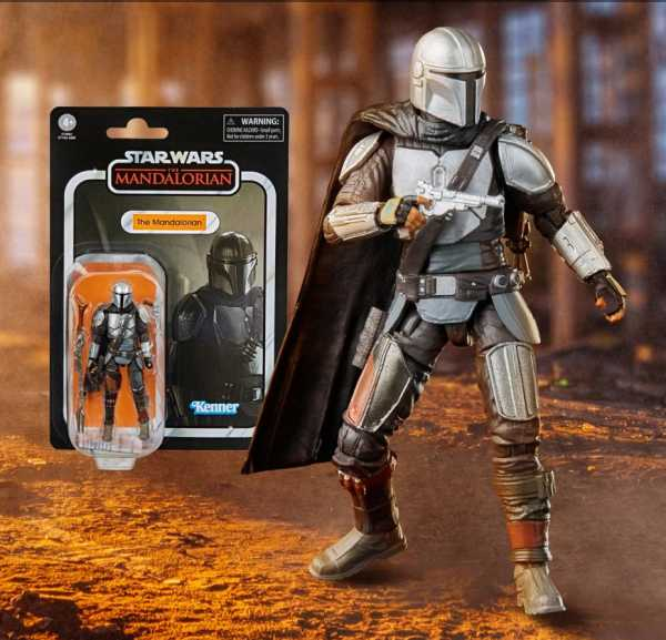 VORBESTELLUNG ! Star Wars Vintage Collection The Mandalorian (Full Beskar) 3 3/4 Inch Actionfigur