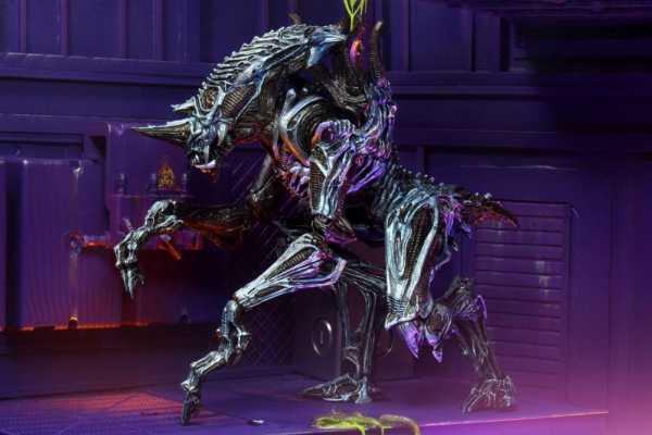 VORBESTELLUNG ! Aliens Ultimate Rhino Alien (Kenner Tribute) Version 2 25 cm Actionfigur