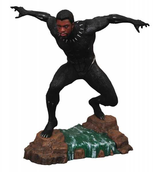 MARVEL GALLERY BLACK PANTHER MOVIE UNMASKED PVC STATUE