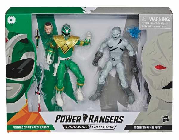 VORBESTELLUNG ! POWER RANGERS LIGHTNING MMPR GREEN RANGER/PUTTY AF 2PK