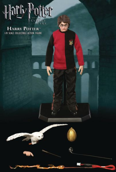 HARRY POTTER GOBLET OF FIRE 1/8 HARRY ACTIONFIGUR TRIWIZARD C WITH FLASH VERSION