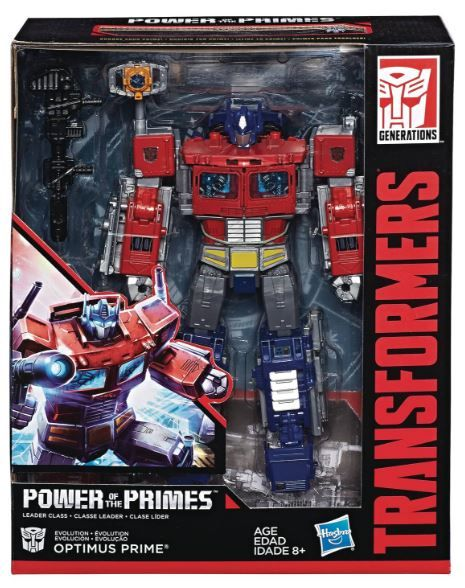 TRANSFORMERS GENERATIONS POWER OF THE PRIMES LEADER CLASS OPTIMUS PRIME ACTIONFIGUR