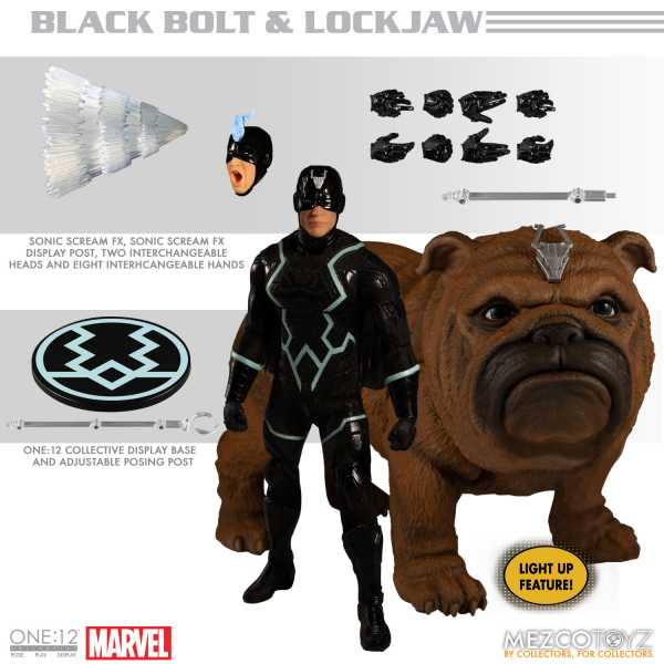 VORBESTELLUNG ! ONE-12 COLLECTIVE MARVEL INHUMANS BLACK BOLT & LOCKJAW ACTIONFIGUR