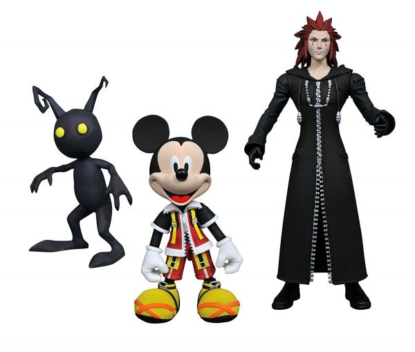KINGDOM HEARTS SELECT SERIES 1 MICKEY, AXEL & SHADOW ACTIONFIGUR