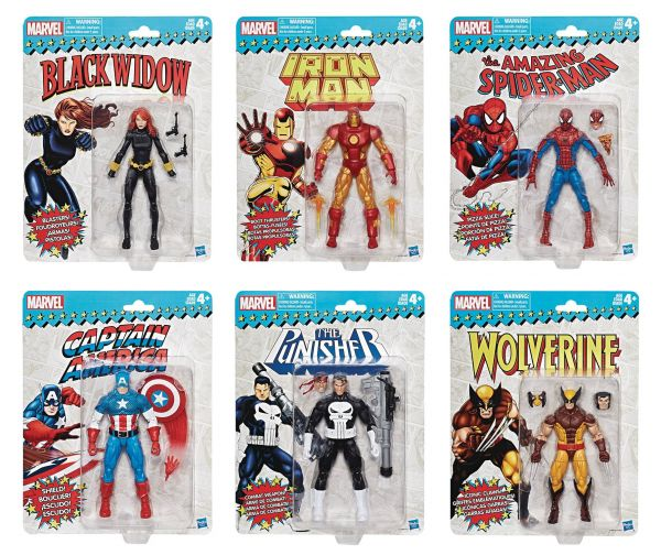 MARVEL SUPER HEROES VINTAGE 15 cm ACTIONFIGUREN KOMPLETT-SET
