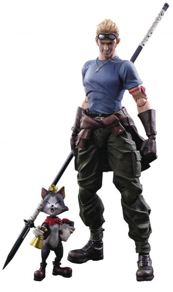 FINAL FANTASY ADVENT CHILDREN VII CID HIGHWIND & CAIT SITH PLAY ARTS KAI ACTIONFIGUREN 2-PACK