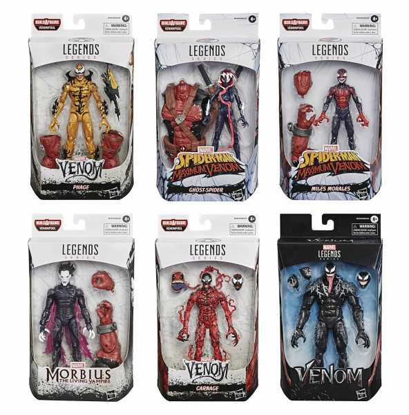 VORBESTELLUNG ! VENOM LEGENDS 6 Inch Actionfiguren VENOMPOOL Komplett-Set