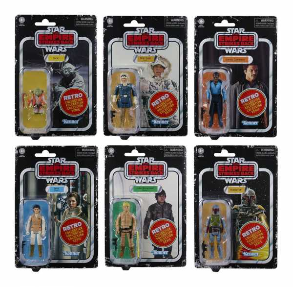 VORBESTELLUNG ! Star Wars Episode V 2020 Retro Collection 10 cm Actionfiguren Komplett-Set