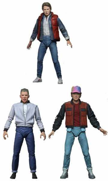 Zurück in die Zukunft Ultimate 18 cm Actionfiguren Komplett-Set