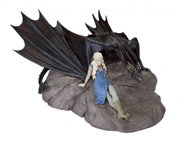 GAME OF THRONES DAENERYS & DROGON MINI STATUE