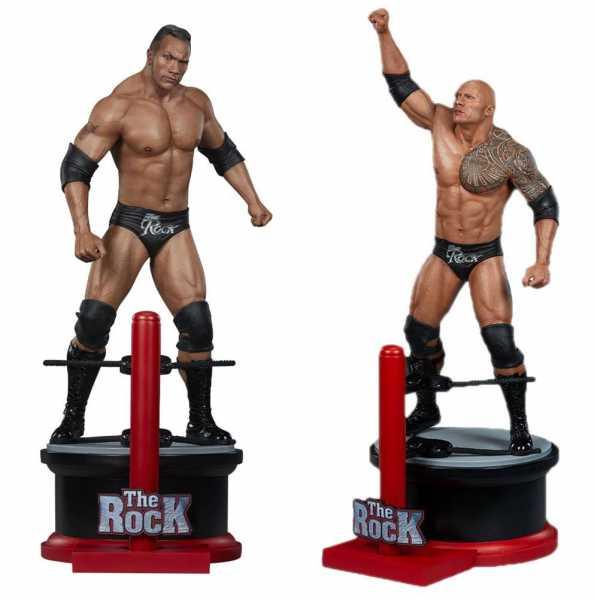 VORBESTELLUNG ! WWE 1/4 The Rock 71 cm Statue