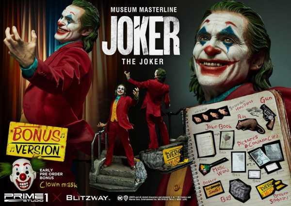 VORBESTELLUNG ! The Joker Museum Masterline 1/3 Joker 70 cm Statue Bonus Version
