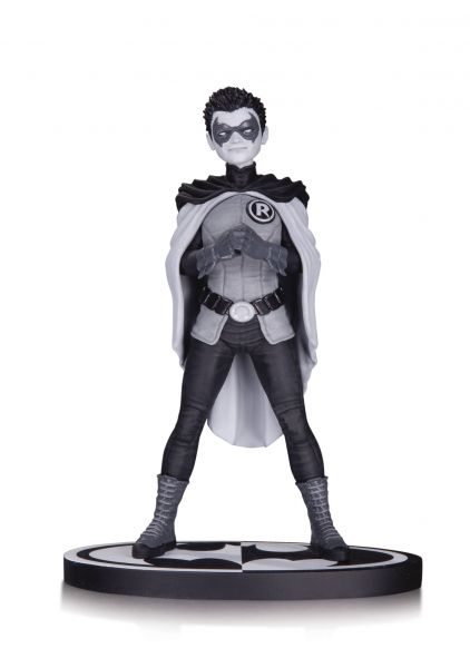 BATMAN BLACK AND WHITE ROBIN STATUE BY FRANK QUITELY