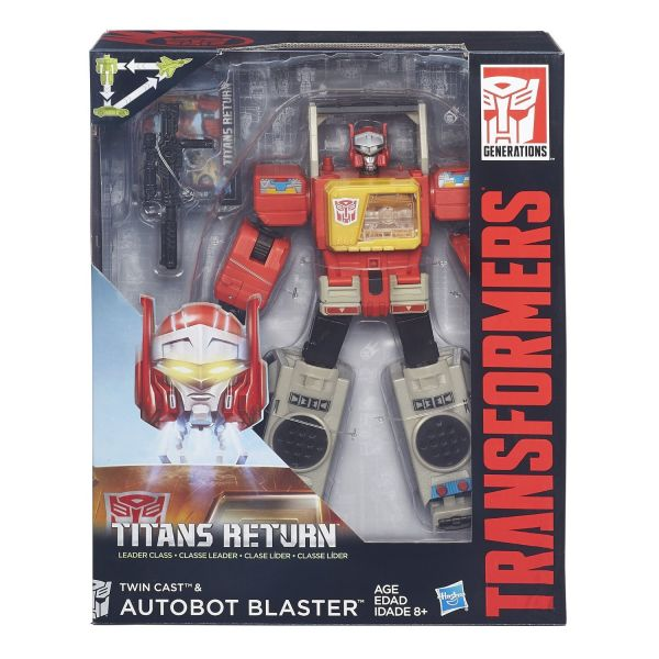 TRANSFORMERS TITANS RETURN LEADER CLASS BLASTER & TWIN CAST ACTIONFIGUR