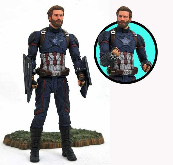 MARVEL SELECT AVENGERS 3 CAPTAIN AMERICA ACTIONFIGUR