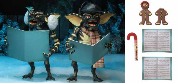 GREMLINS CHRISTMAS CAROL WINTER SCENE 7 INCH ACTION FIGUREN 2 PACK SET 2