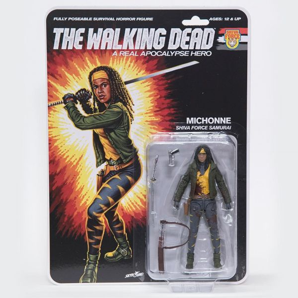 THE WALKING DEAD - A REAL APOCALYPSE HERO MICHONNE ACTIONFIGUR BLOODY VERSION