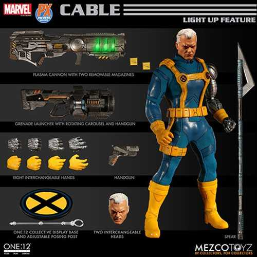 ONE-12 COLLECTIVE MARVEL PX CABLE X-MEN EDITION ACTIONFIGUR