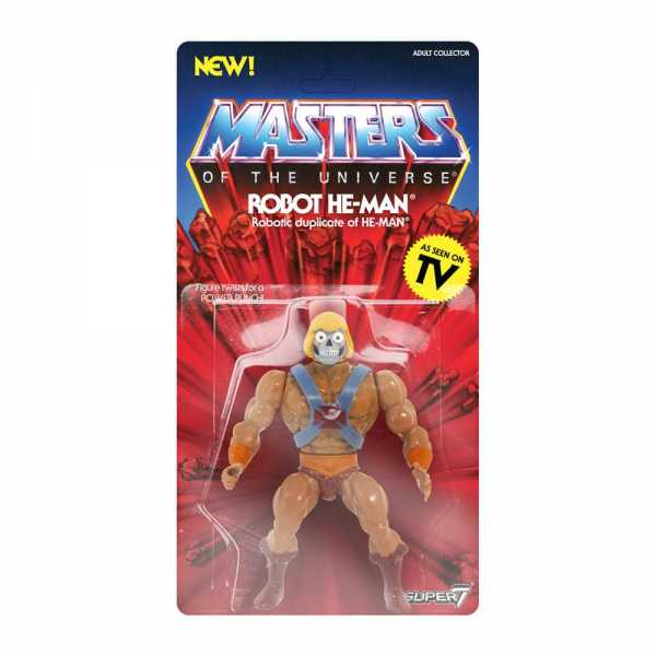 MASTERS OF THE UNIVERSE VINTAGE WAVE 2 ROBOT HE-MAN