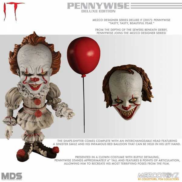 MDS IT 2017 PENNYWISE 15 cm DELUXE STYLIZED ROTO ACTIONFIGUR