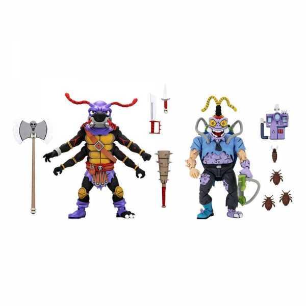 VORBESTELLUNG ! Teenage Mutant Ninja Turtles Antrax & Scumbug 18 cm Actionfiguren 2-Pack