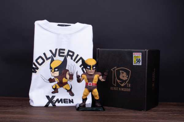 X-Men Wolverine Brown Costume Version EAA-084DX Actionfigur & T-Shirt (XL)