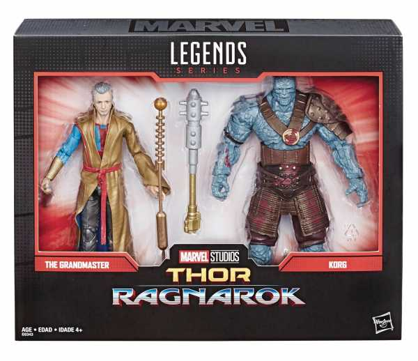 MARVEL LEGENDS 80TH ANN GRANDMASTER / KORG 6INCH SET