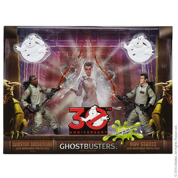 GHOSTBUSTERS RAY STANTZ & WINSTON ZEDDEMORE ACTIONFIGUREN-SET