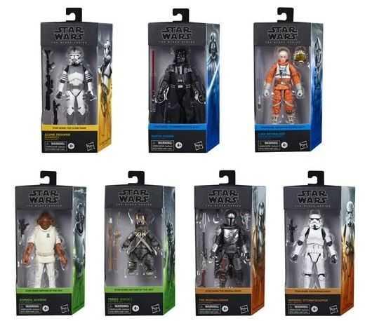 VORBESTELLUNG ! Star Wars The Black Series 6-Inch Actionfiguren Wave 1 Komplett Set