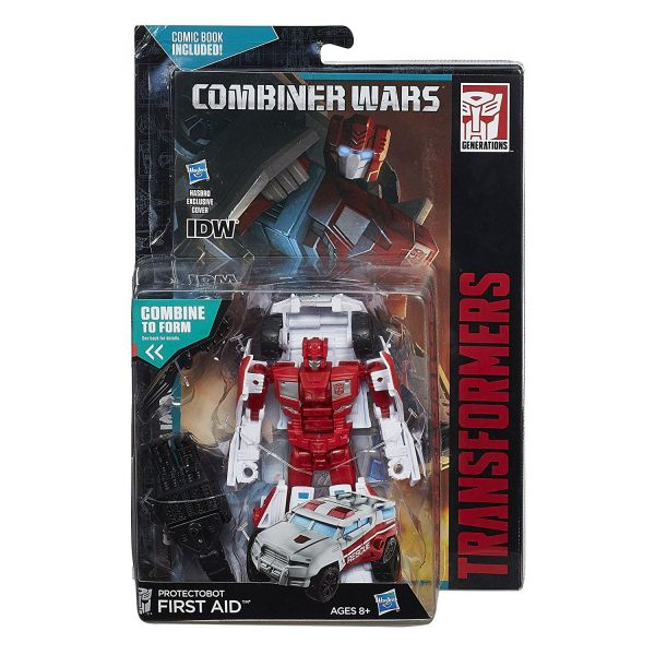 TRANSFORMERS GENERATIONS COMBINER WARS PROTECTOBOT FIRST AID ACTIONFIGUR - Beschädigte Vepackung