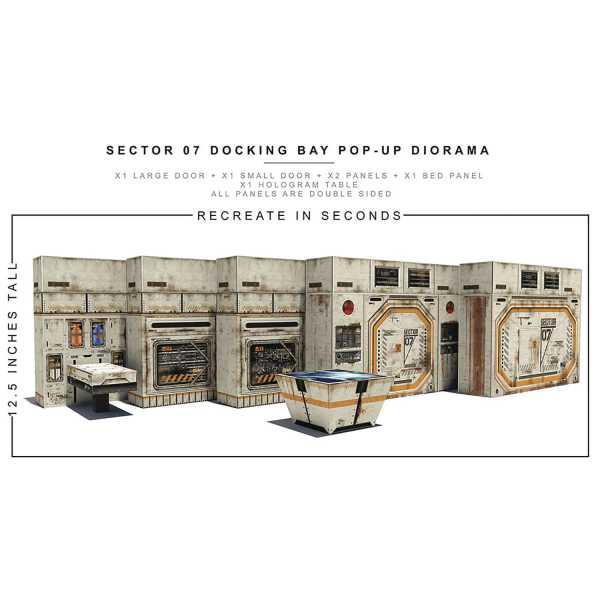 VORBESTELLUNG ! EXTREME SETS SECTOR 07 DOCKING BAY POP UP 1/12 SCALE DIORAMA