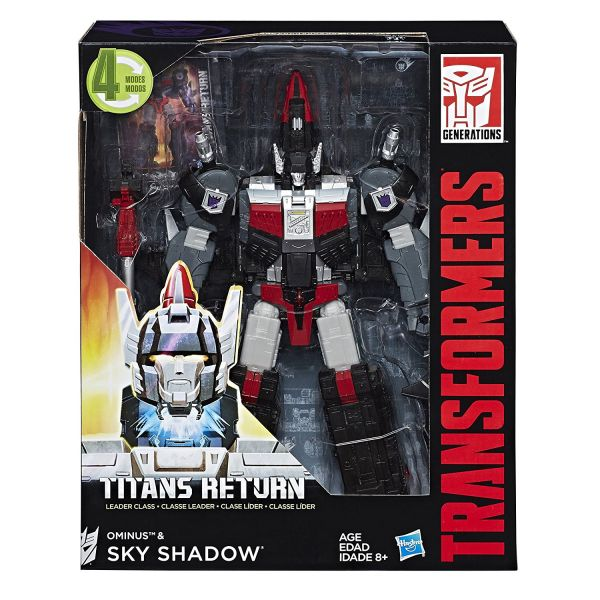 TRANSFORMERS TITANS RETURN LEADER CLASS OMINUS & SKY SHADOW ACTIONFIGUR