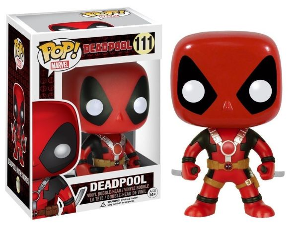 POP MARVEL DEADPOOL TWO KATANAS VINYL FIGUR defekte Verpackung