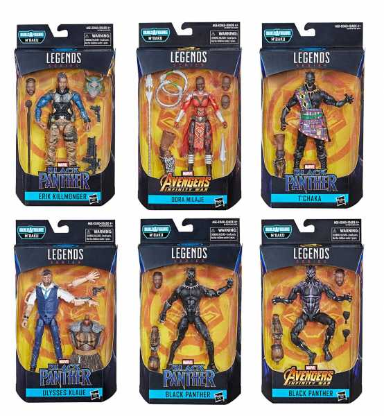 BLACK PANTHER LEGENDS SERIE 2 KOMPLETTE ACTIONFIGUREN-SERIE