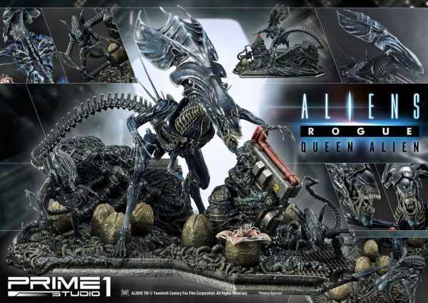 VORBESTELLUNG ! Aliens Premium Masterline Series Queen Alien Battle Diorama 71 cm Statue