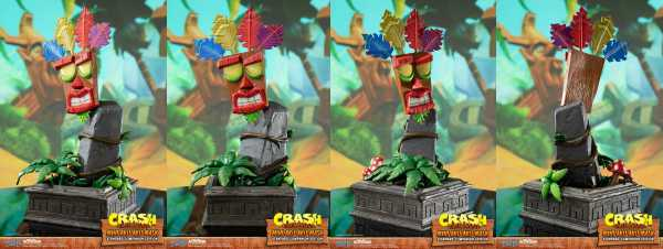 VORBESTELLUNG ! Crash Bandicoot Mini Aku Aku Maske 40 cm Statue