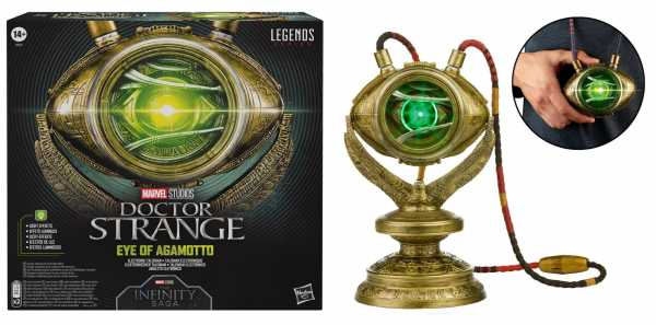 VORBESTELLUNG ! Doctor Strange Marvel Legends Series Eye of Agamotto Electronic Talisman Prop Replik