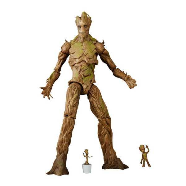 VORBESTELLUNG ! Guardians of the Galaxy Marvel Legends Groot Evolution Actionfiguren Set - Exclusive