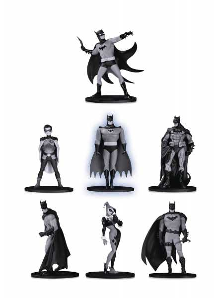 VORBESTELLUNG ! BATMAN BLACK & WHITE MINI PVC FIGUREN 7 PACK SET 2