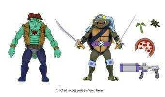 VORBESTELLUNG ! Teenage Mutant Ninja Turtles Leather Head & Slash 18 cm Actionfiguren 2-Pack